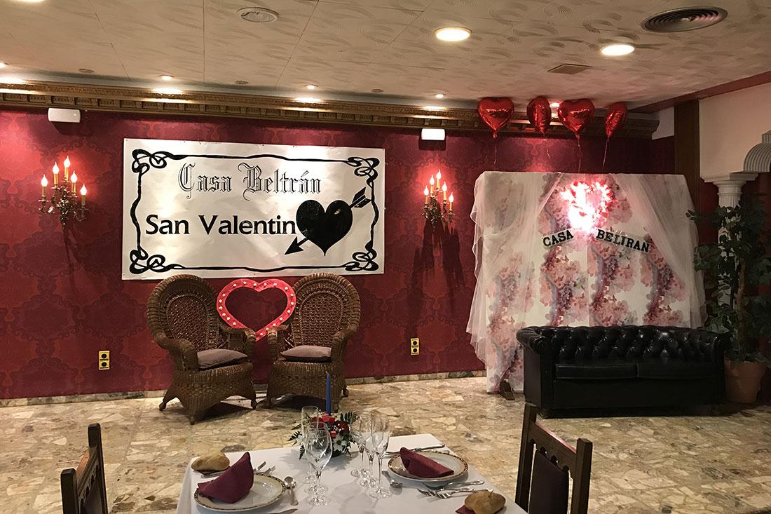 Cena de San Valentín Restaurante Casa Beltrán